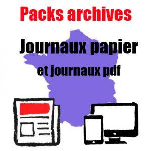 Packs archives 6 numéros