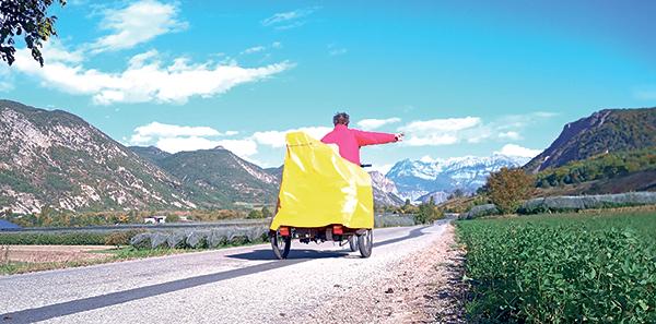 Philippe Séranne sur la route de Digne-les-Bains